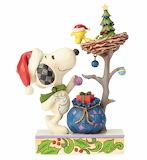 ^ Peanuts Snoopy Woodstock Tis the Season - Jim Shore