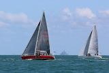 Sailing race in the Mont Saint Michel Bay