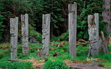 Totempfähle in Britisch Columbia USA