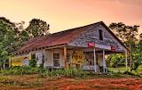 Abandoned country store Lake Bowen South Carolina