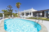 Modern villa, pool and garden in Lanzarote