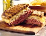 ^ Classic reuben sandwich