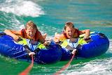 children rafting