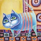 striped cat, Zoriana Shymko