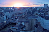 The sun sets in Rennes sometimes