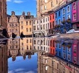 Rain again in Edinburgh Scotland