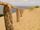 Railing in the Sand