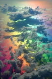 Flight through a rainbow