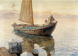 Polish Fishing Boat by Michał Wywiórski Gorstkin 1914