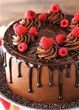 #Raspberry Chocolate Layer Cake