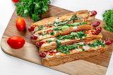 ^ Hot dog Vienna sausage