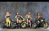 Girls and motorbikes