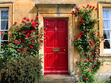 Red Door in the Cotswolds, England...