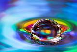 MACRO WATER DROP - Shawn Knol (Photoelasticity on Reddit)