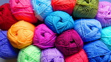 Balls of colored wool