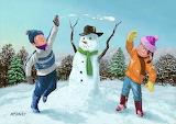 Martin Davey: Children Playing in Snow (2010)