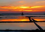 Stagnone-salt flats-Marsala-sunset