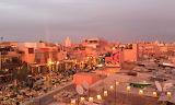 Marrakech sunset view