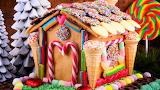 Festive Christmas Gingerbread House