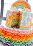 Starry rainbow cake @ beaux gateaux