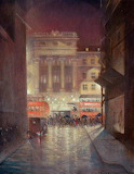 """Cityscape Art tumblr dogstardreaming """"The Strand by Night"""" """"Chri"""