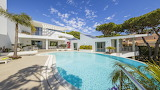 Ultra modern luxury white villa and pool, Algarve