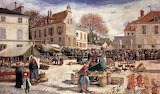 The Market outside Pontoise Town Hall