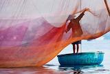 Traditional fishing net Vietnam