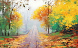 beautiful autumn painting