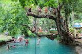 Blue Lagoon and Phu Kham Cave Vang Vieng, Laos