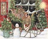 ^ Santa's Sleigh ~ Susan Winget