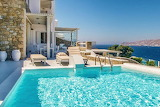 Mykonos villa and pool with sea view