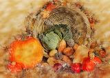 ^ Basket of Fall Vegetables
