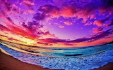 #Colorful Beach Sunset