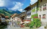 Village of Gruyeres Switzerland