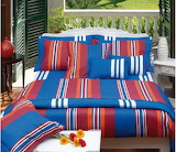 Colourful bed linen