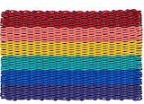 ^ Rainbow rope doormat