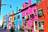 Various 892 colorful houses Venice