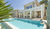 Mediterranean style villa and pool