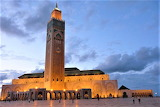 Sundown Hassan II Mosque Casablanca Morocco