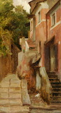 'A Street in Lerici' by Lord Leighton