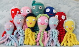 Crocheted octopuses