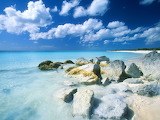 Beautiful tropical island beach scene