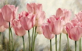 ^ Soft pink tulips