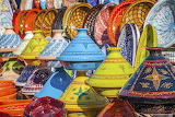 Colorful-tajines-at-the-marrakesh-market