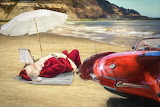 Santa Claus, Rest Off, After Christmas 2019, With His Corvette 5