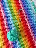 Rainbow rows afghan