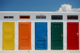 ^ Colored cabin doors