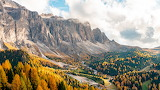 Gardena Pass in Italy