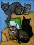 Cat Family by Heidi Shaulis